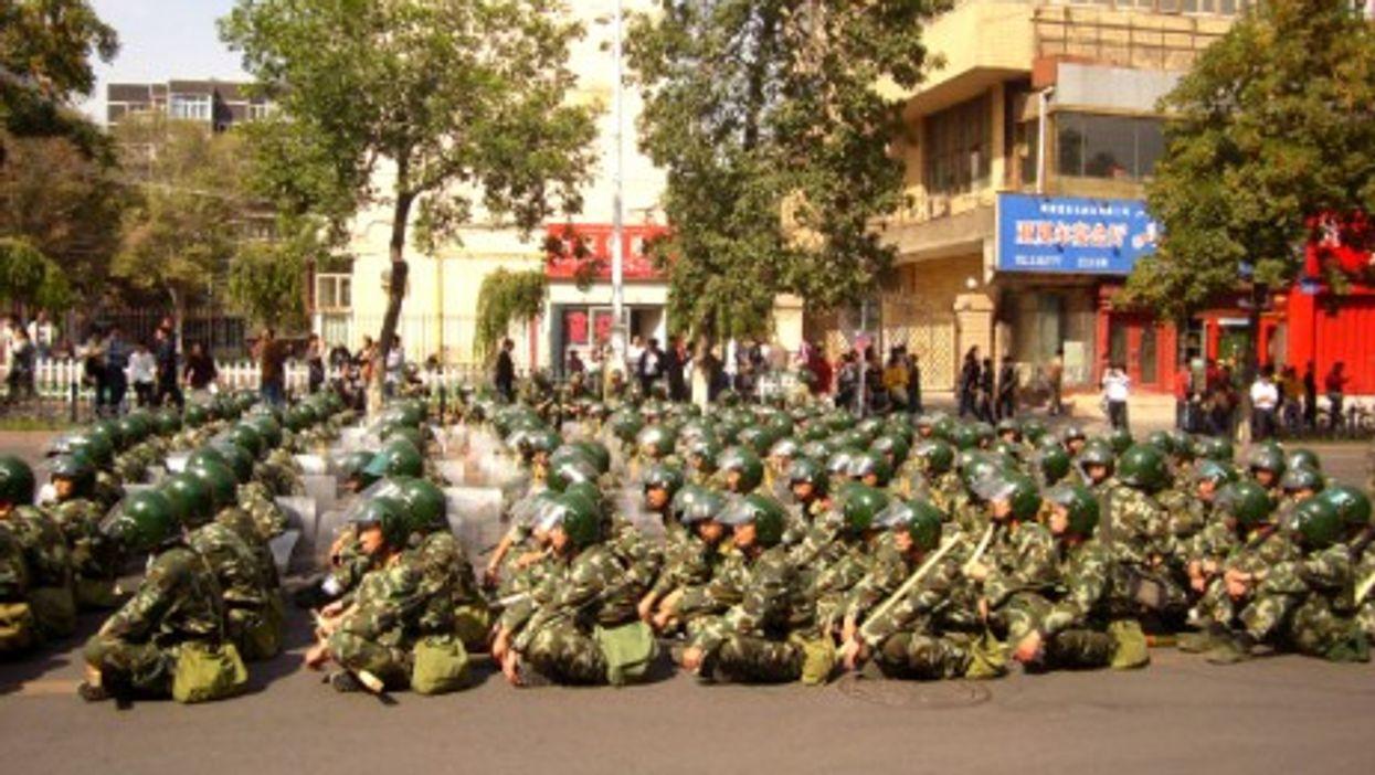 Armed Police soldiers in Urumqi