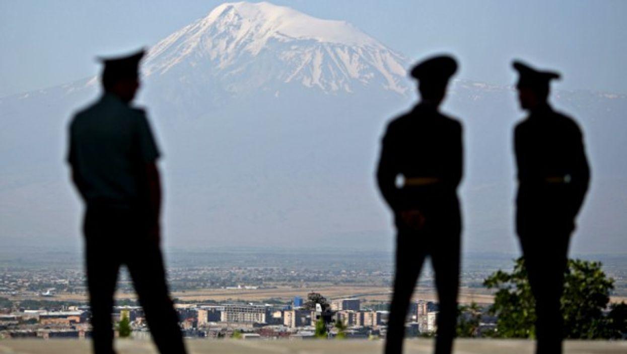Armenian soldiers in Yerevan