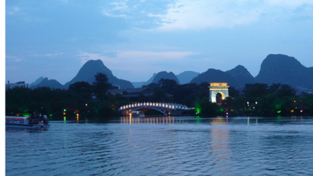 Artificial lake of Guilin