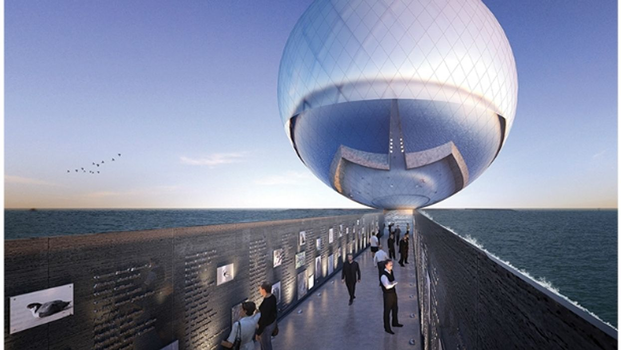 Artist's impression of the Clear Orb project in Santa Monica, CA