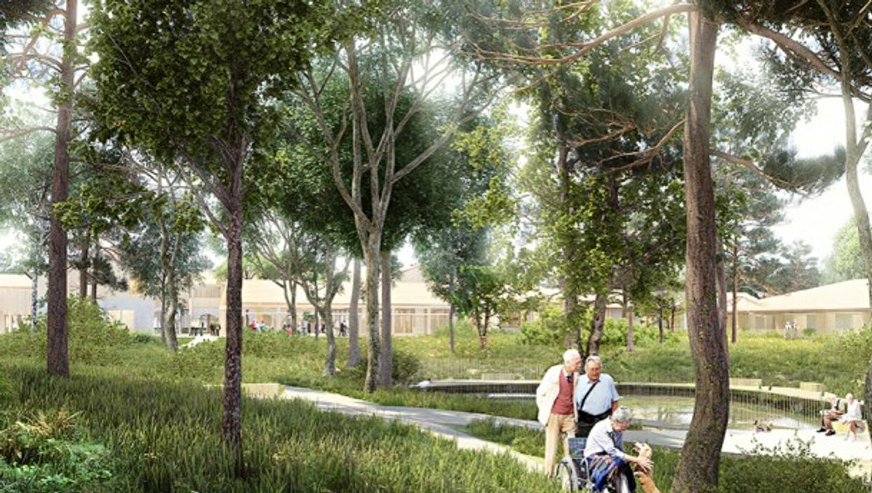 Artist's impression of the upcoming Alzheimer Village in Dax