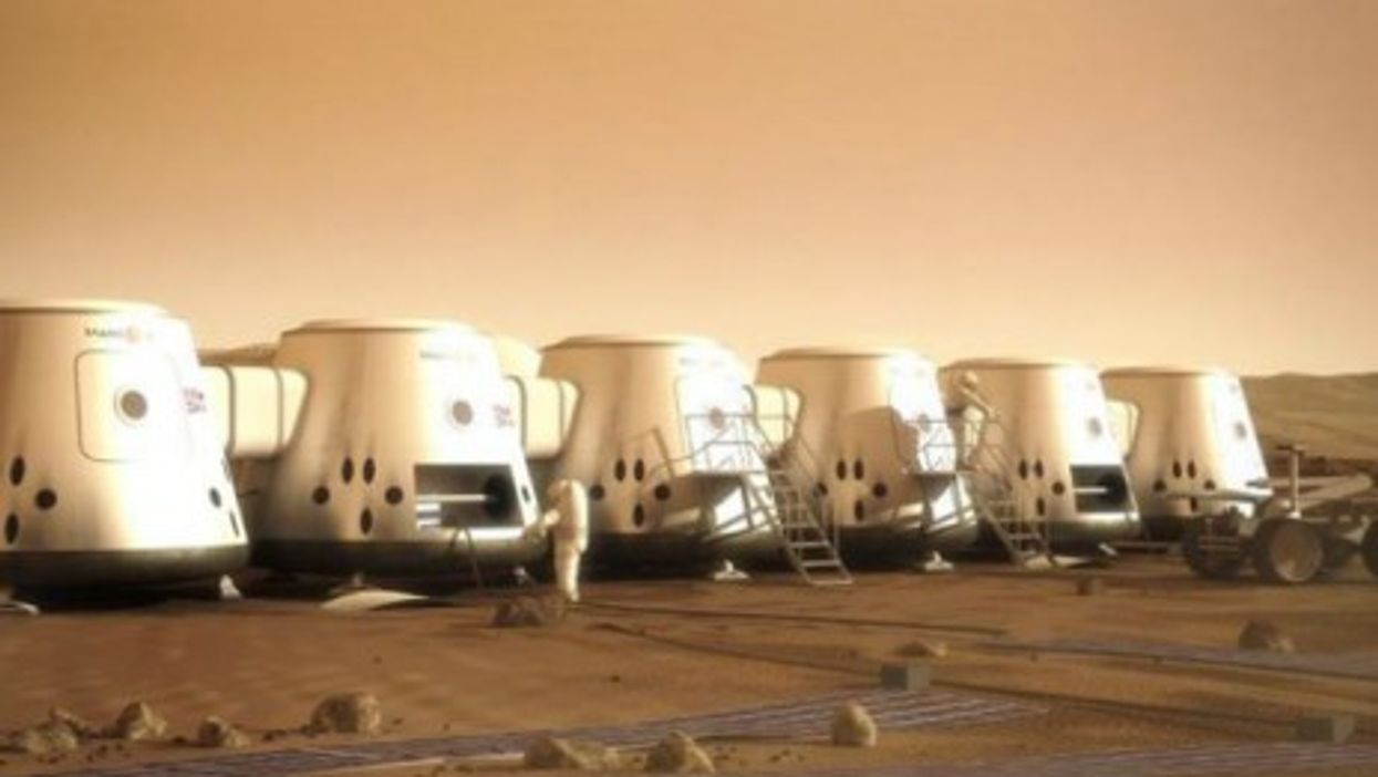 Artistic rendition of a human settlement on Mars