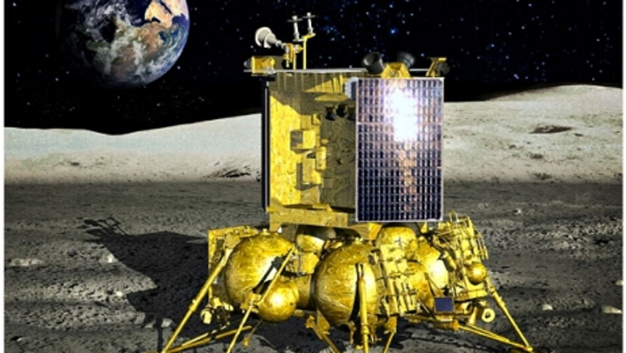 Artist's impression of a Russian Luna-Glob module on the surface of the Moon