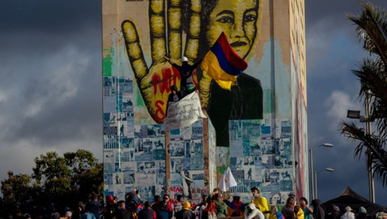 As Colombia marked the 211th anniversary of its independence from Spain this week, demonstrators took to the streets in Bogota and other big cities to push for reforms such as implementing a minimum wage and improving the country's healthcare system