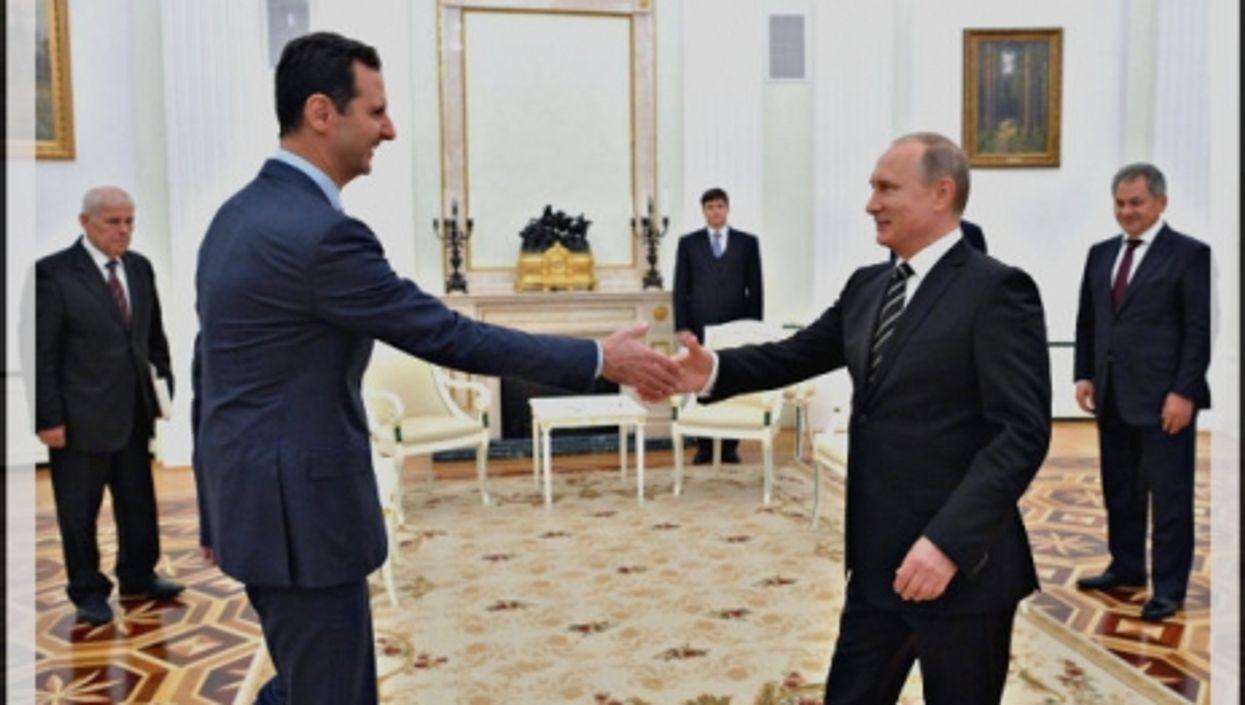 Assad and Putin at the Kremlin in October.