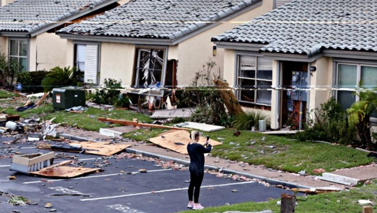 Assessing post-Harvey damage in Rockport, Texas.