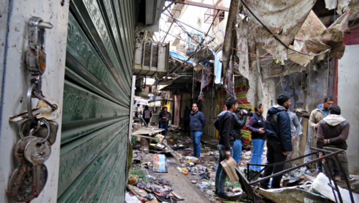 At a Baghdad market hit by a bomb attack on Dec. 31