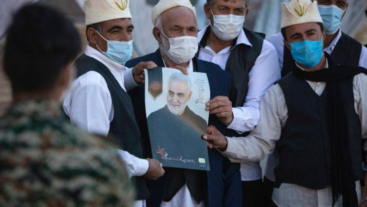 At a ceremony in Kerman, Iran, that marked the first anniversary of the killing of commander Qasem Soleimani