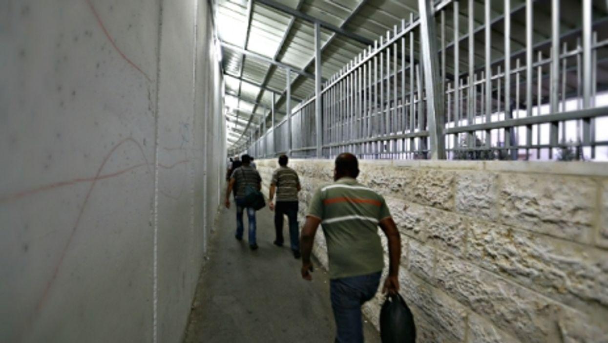 At a checkpoint near Bethlehem