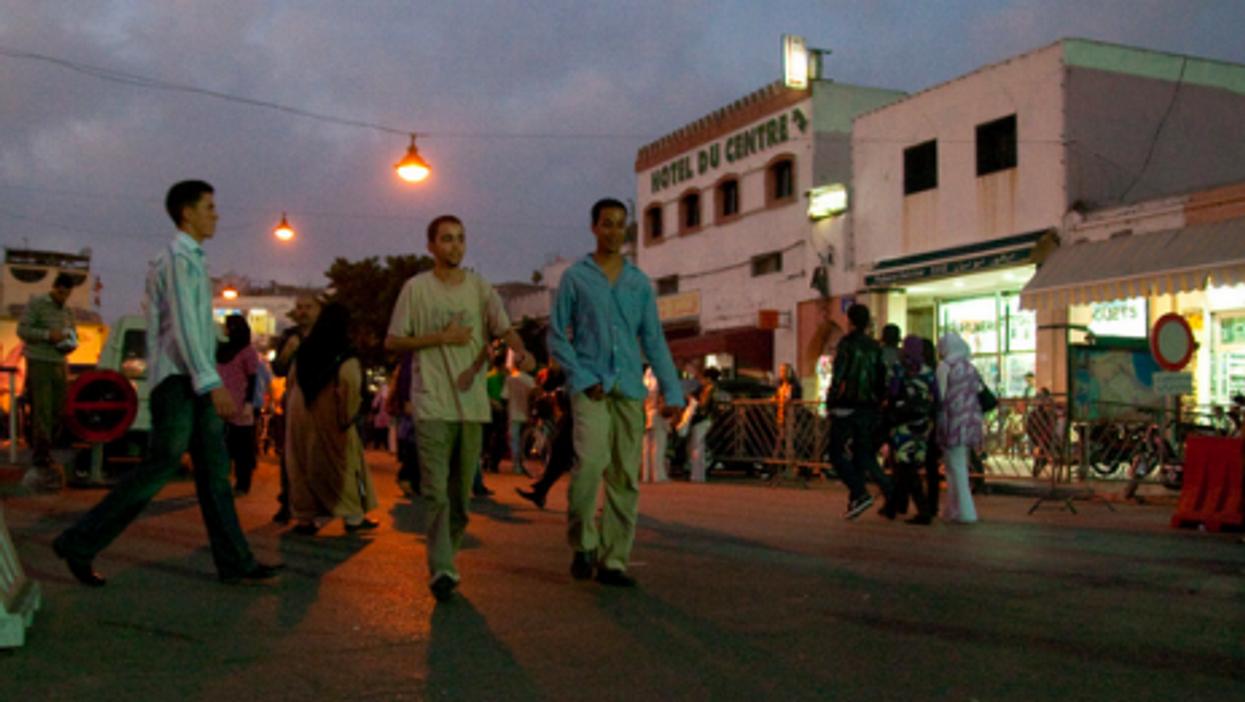 At a crossroads in Rabat