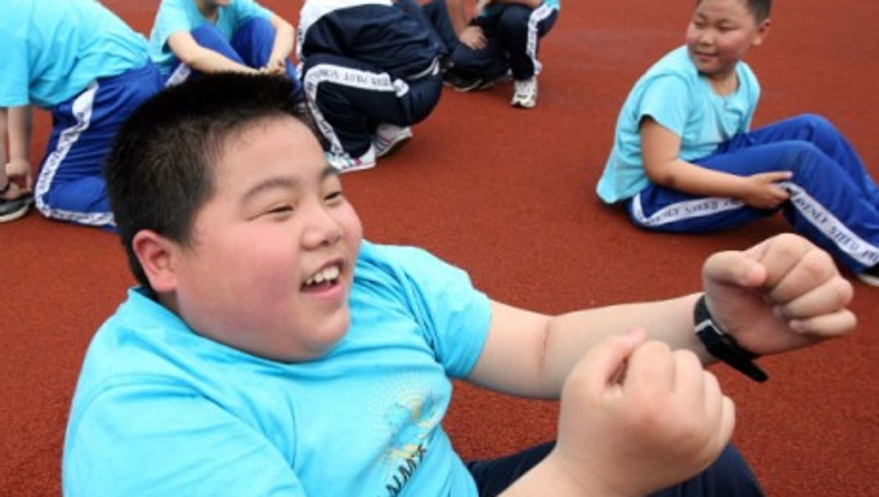 At a fitness club of the Tianma Experimental School in Zhuji, east China's Zhejiang Province