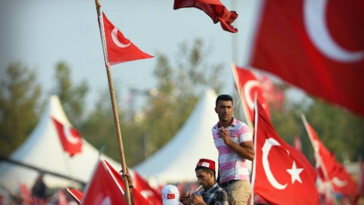 At an Istanbul national unity rally after the July 15 failed coup