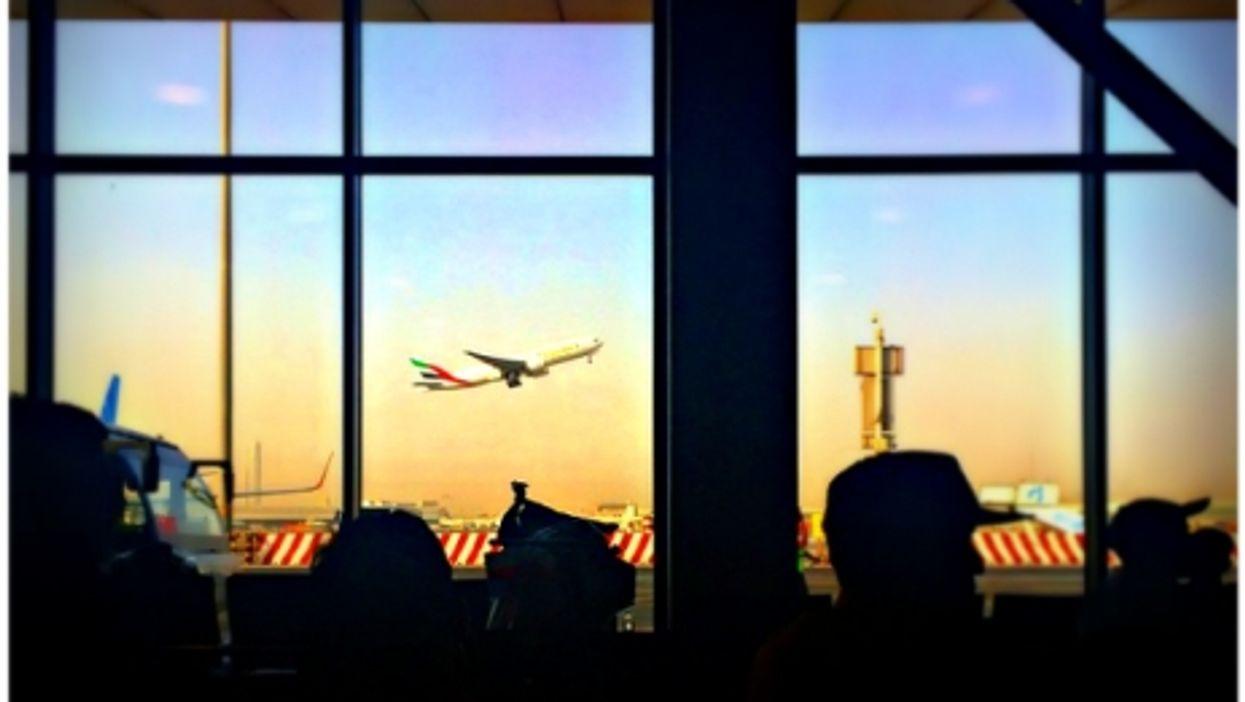 At Dubai's International Airport