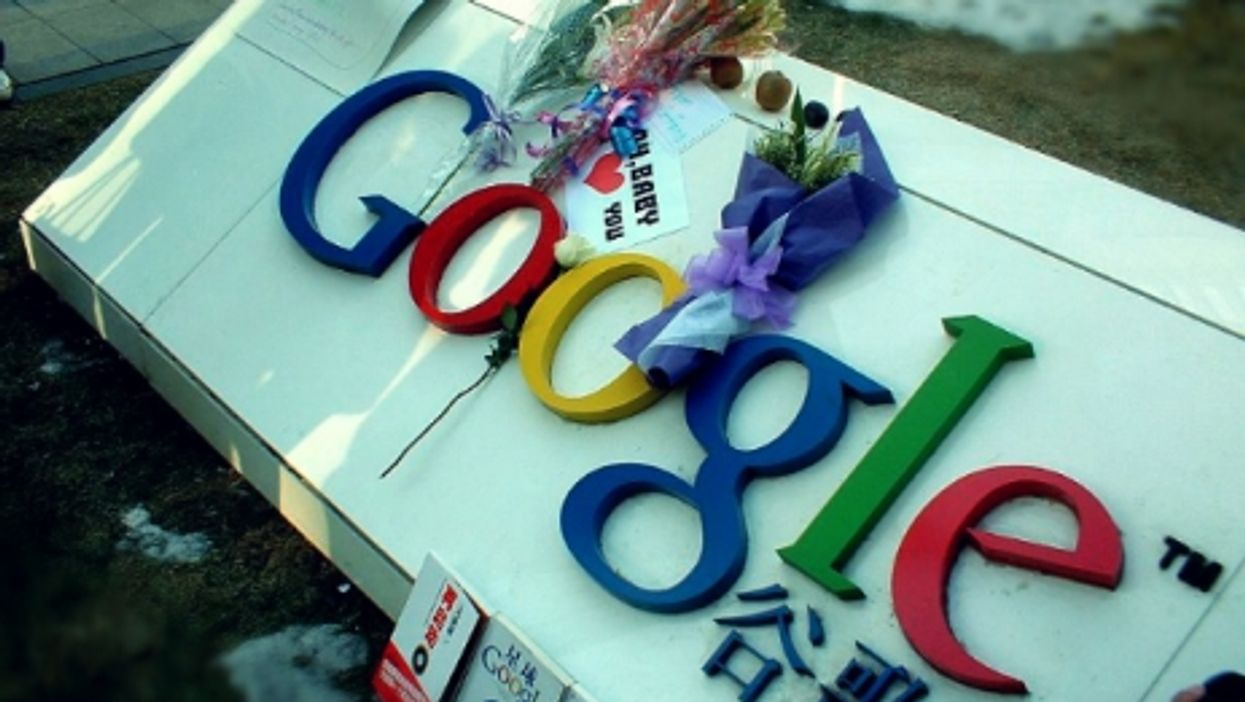 At Google China's headquarters