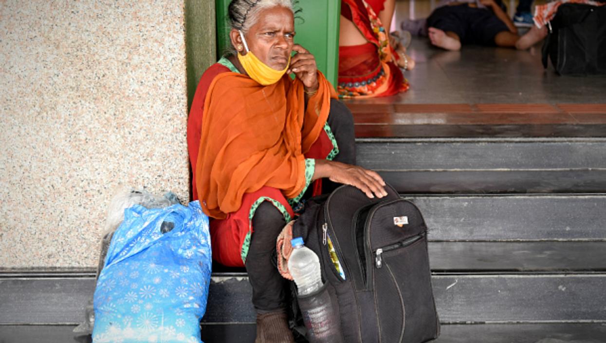 At Guwahati train station in Assam, India