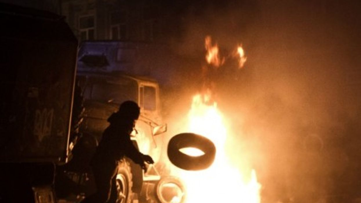 At least two people were killed by gunshots in Kiev early Wednesday