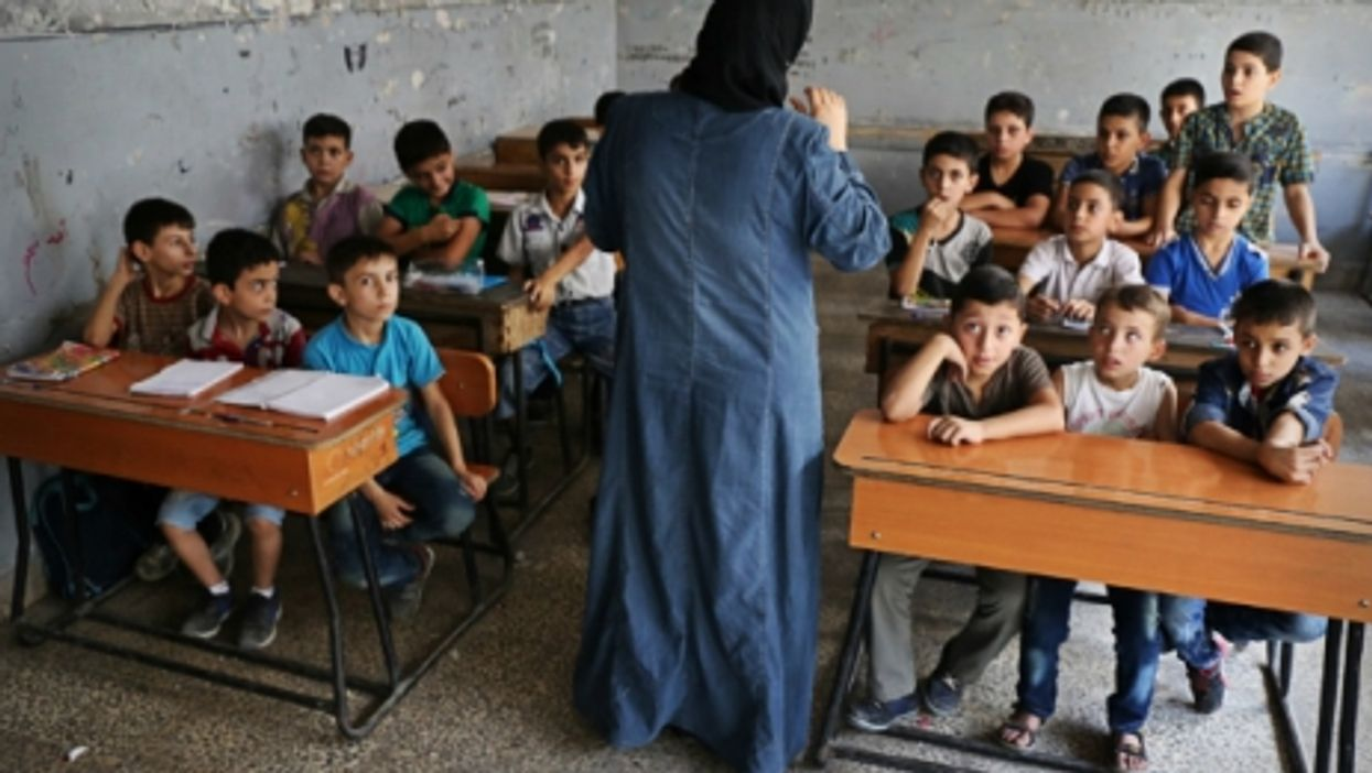 At school in Aleppo