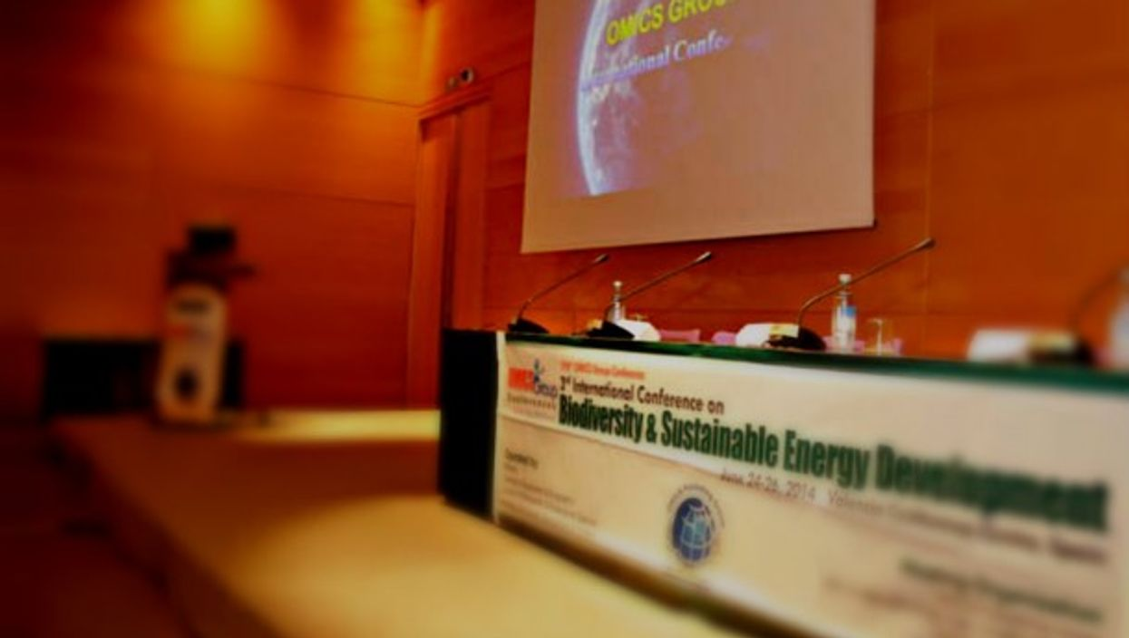 At the 2014 biodiversity conference in Valencia