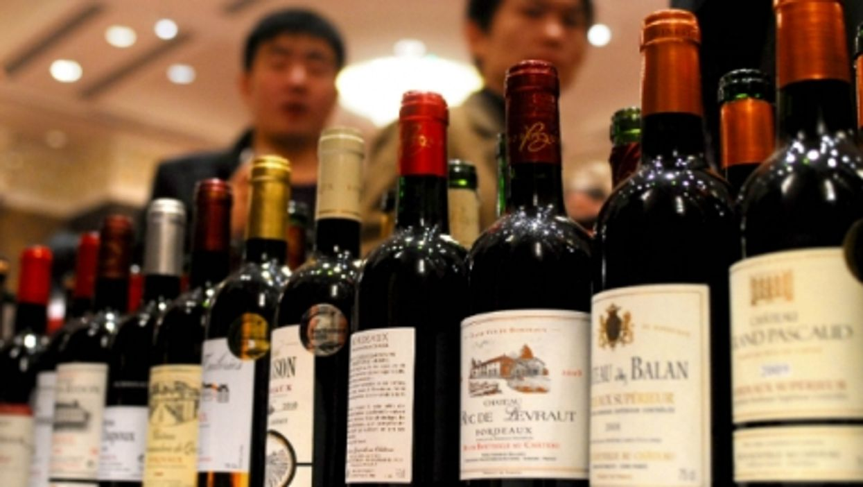 At the Bordeaux and Aquitaine Wine Festival in Wuhan, central China