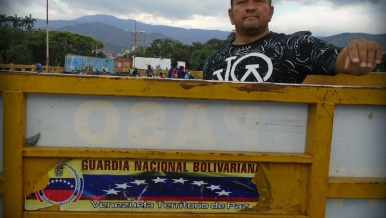 At the Colombia-Venezuela border in March.