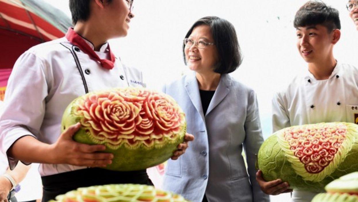 At the Fonglin Watermelon Festival
