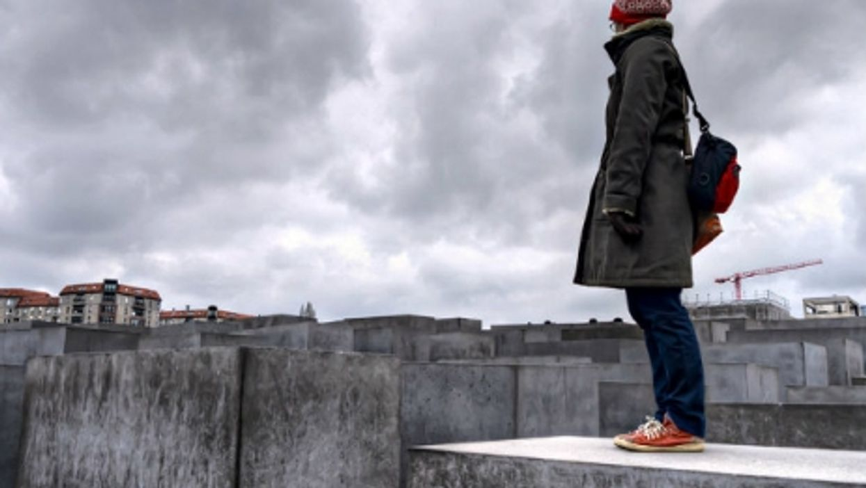 At the Holocaust Memorial in Berlin