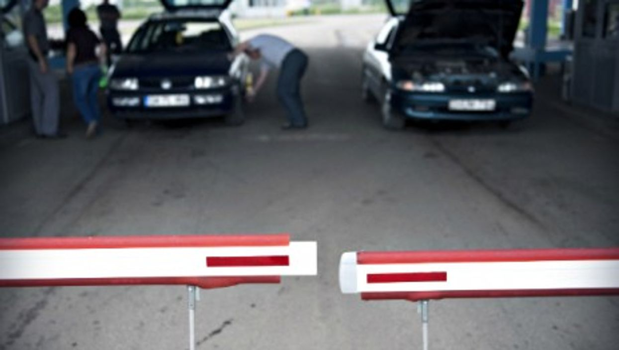 At the Romania-Hungary border
