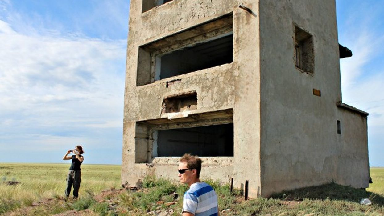 At the Semipalatinsk nuclear test site, aka the Polygon