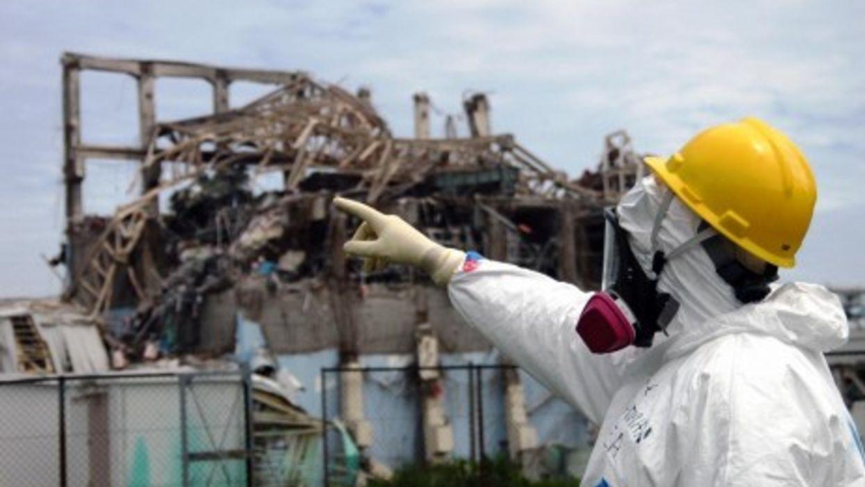 At the stricken Fukushima plant (IAEA)