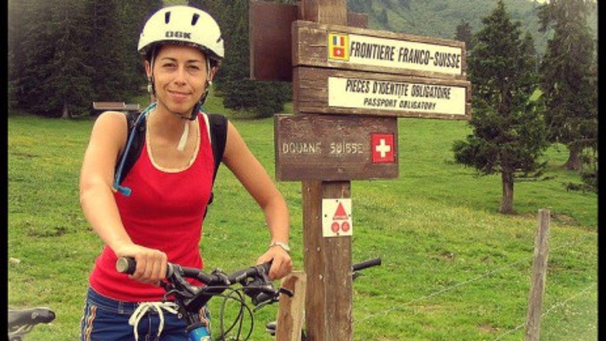 At the Swiss-EU border