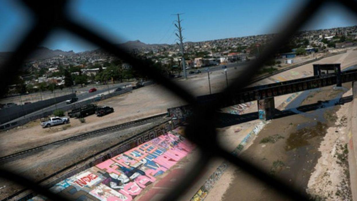 At the U.S.-Mexico border in Ciudad Juarez