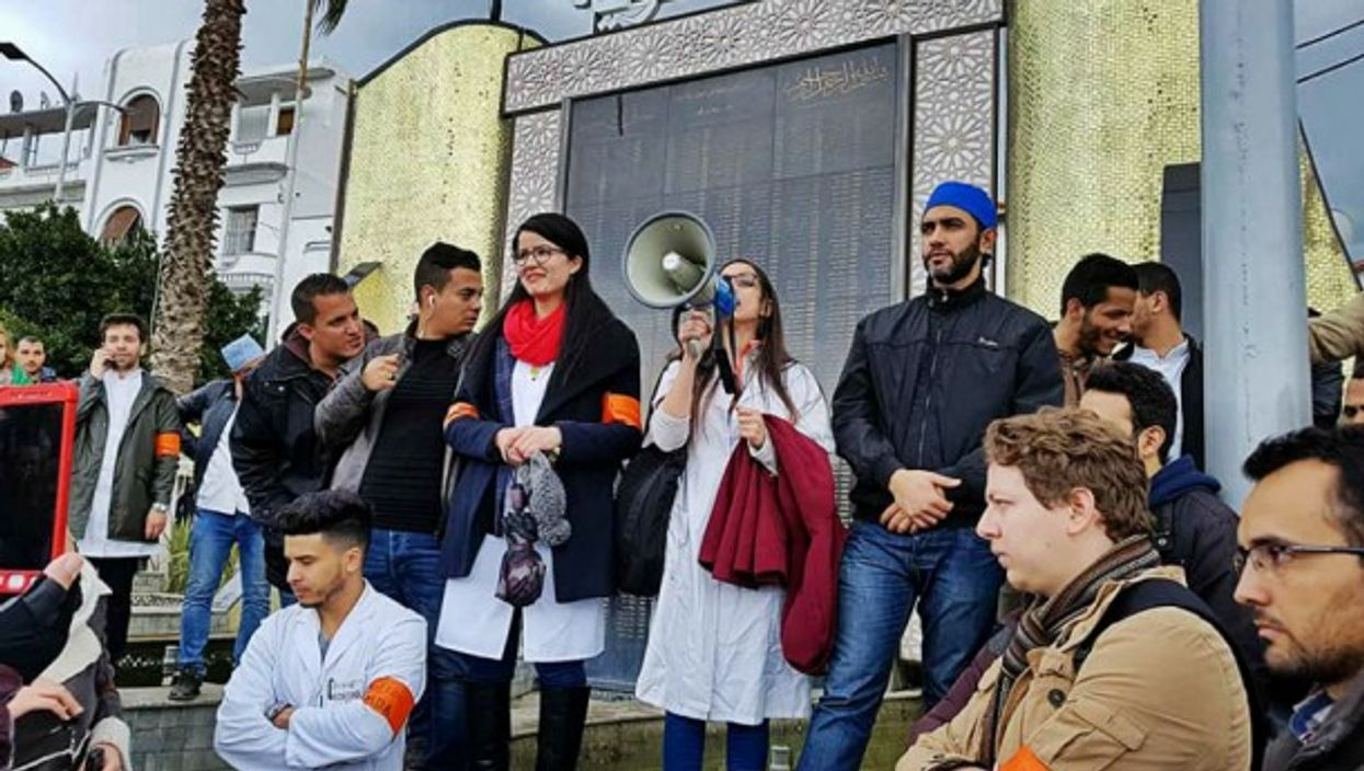 At the University of Algiers, medical residents have been on strike since mid-November
