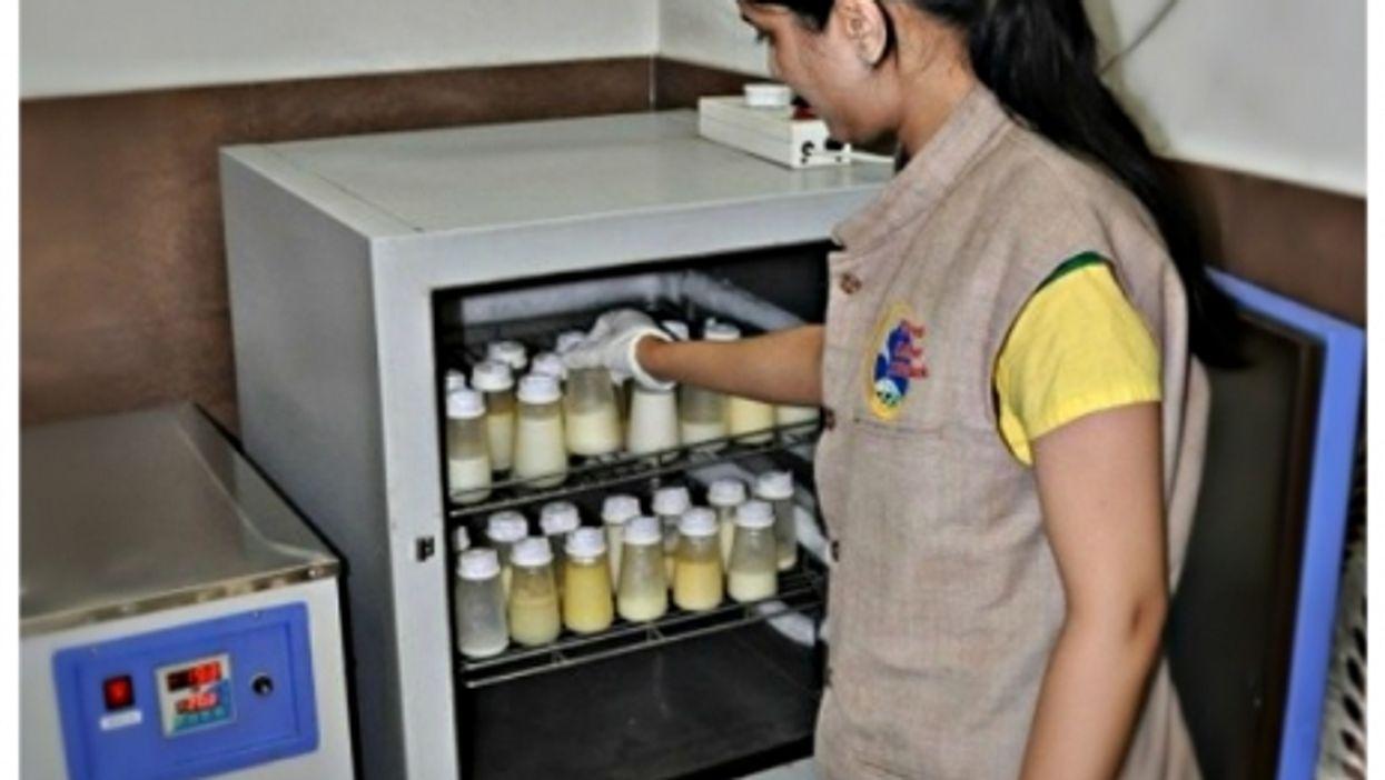 At Udaipur's milk bank
