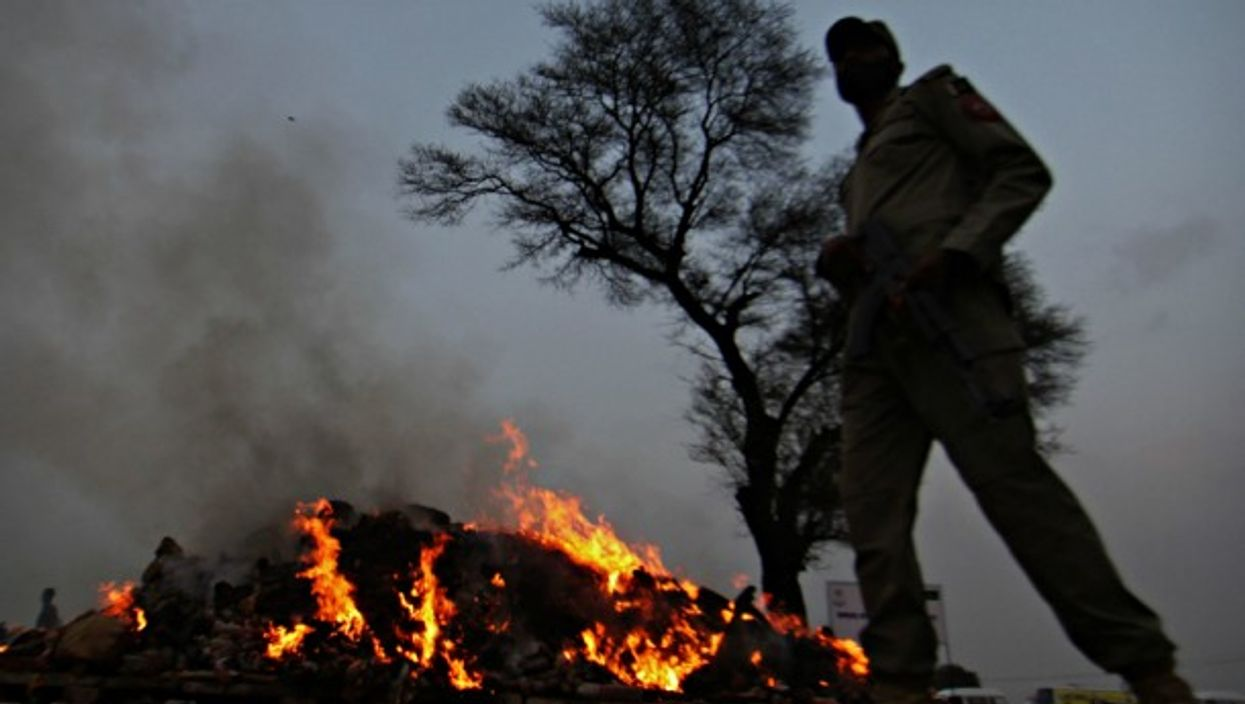 Authorities in Punjab region burn seized narcotics in November
