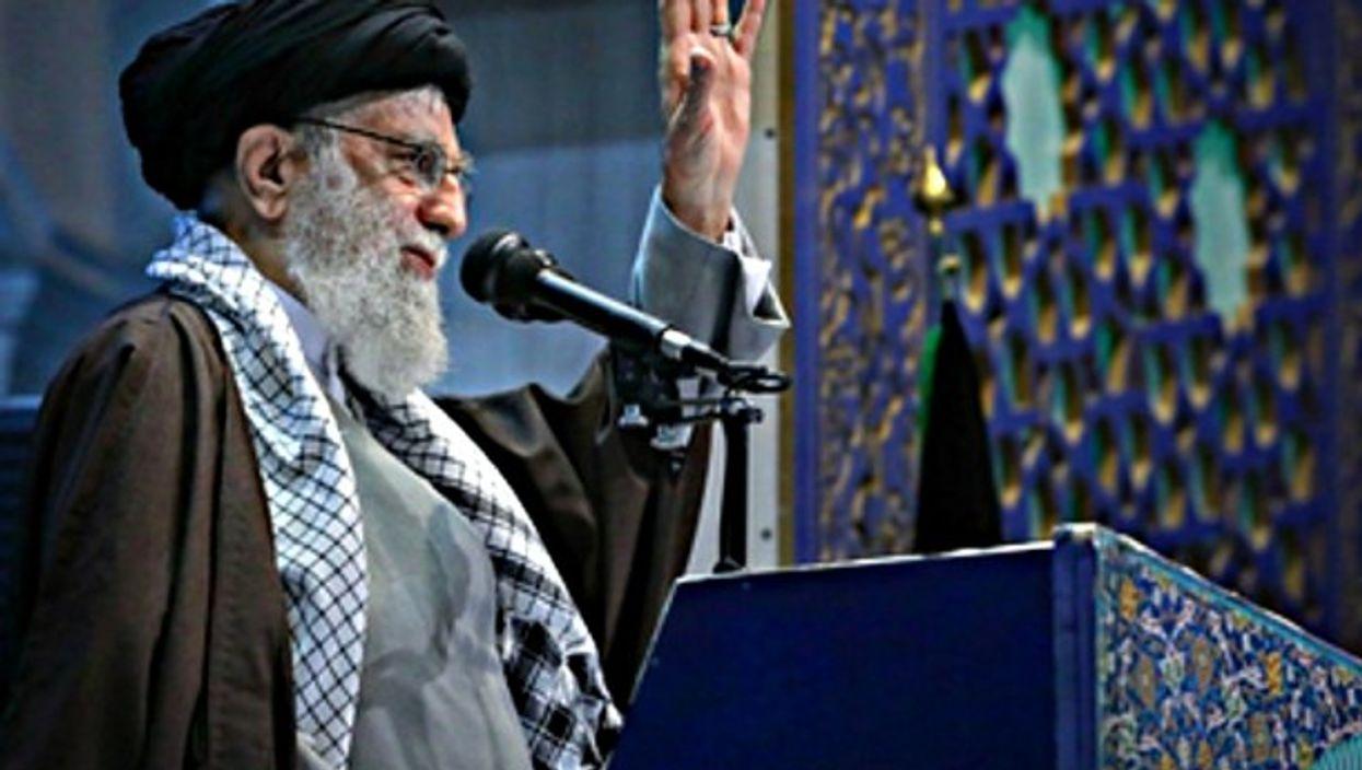 Ayatollah Ali Khamenei on his Friday sermon