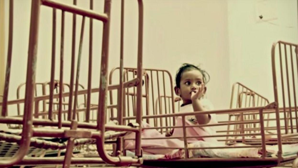 Baby girl at the Mahesh Ashram orphanage