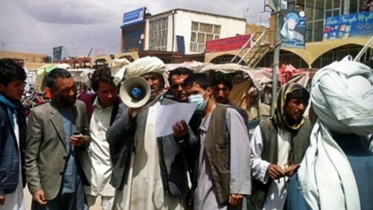 Bamyan's town crier Juma Khan