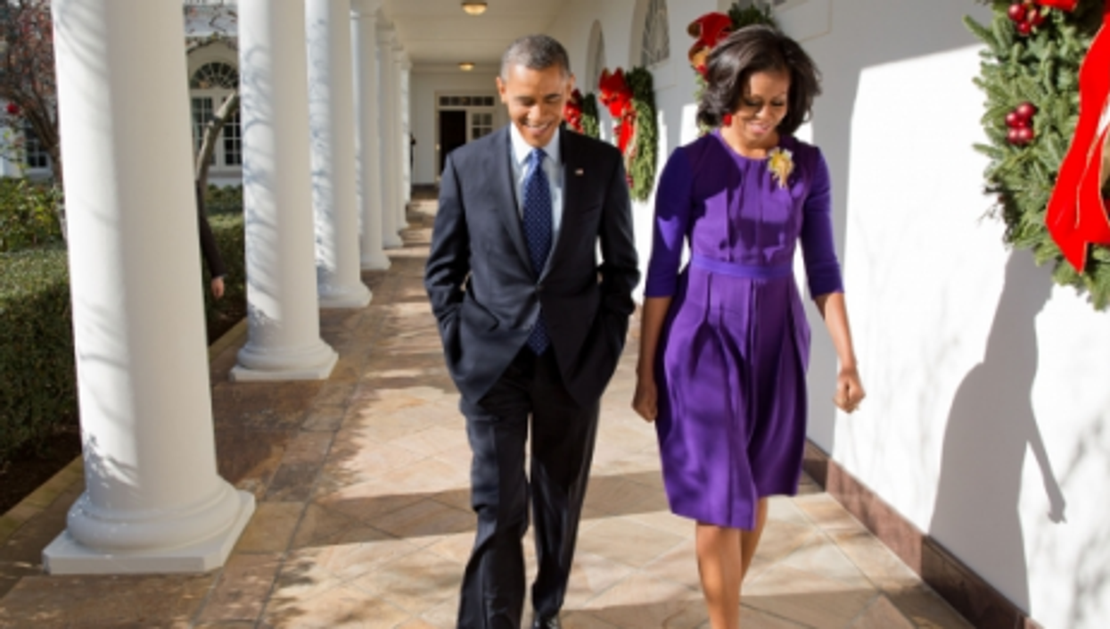 Barack and Michele Obama, in the end, had a good year...