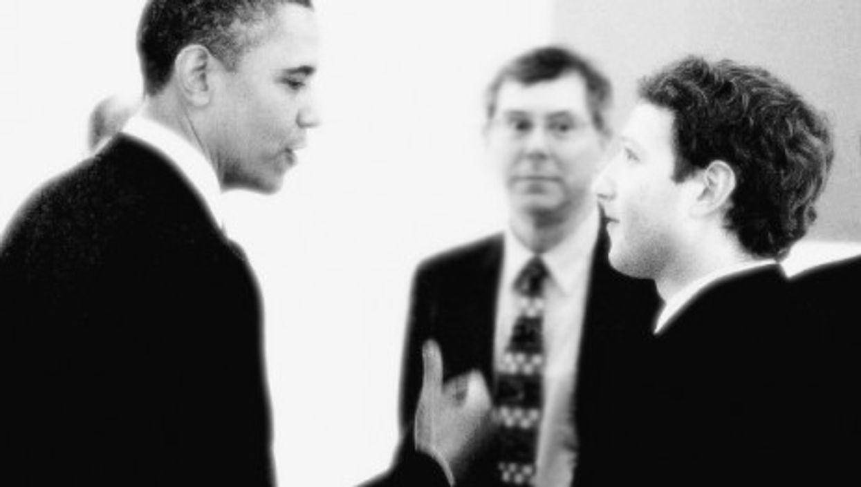 Barack Obama and Facebook founder Mark Zuckerberg