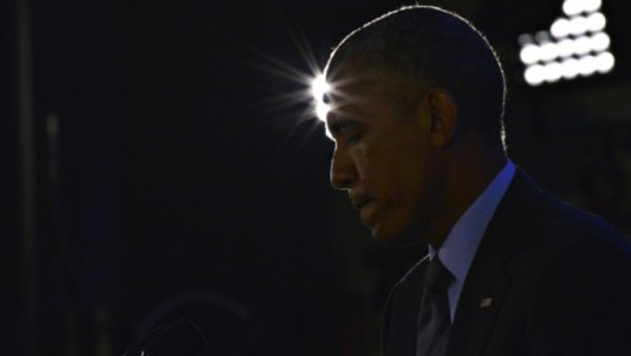Barack Obama at a press conference during the U.S.-Africa Leaders Summit in Washington on Aug. 6