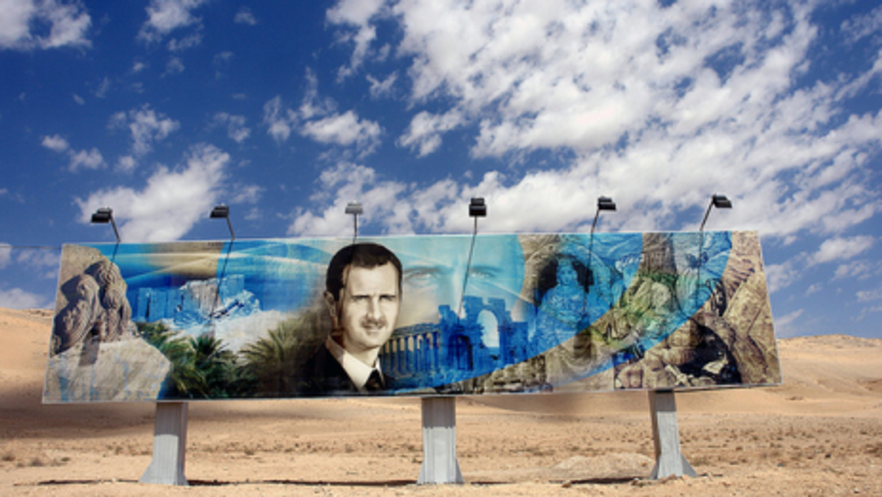 Bashar al-Assad highway billboard in Syria