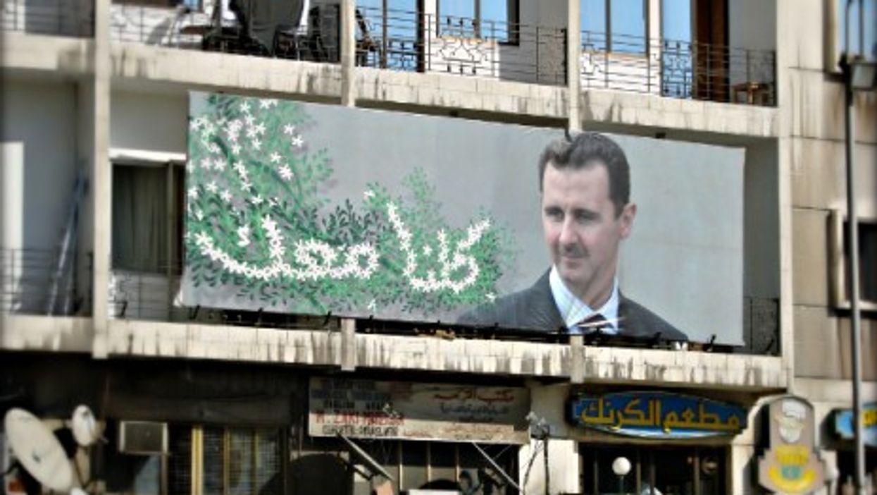 Bashar al-Assad propaganda in Damascus