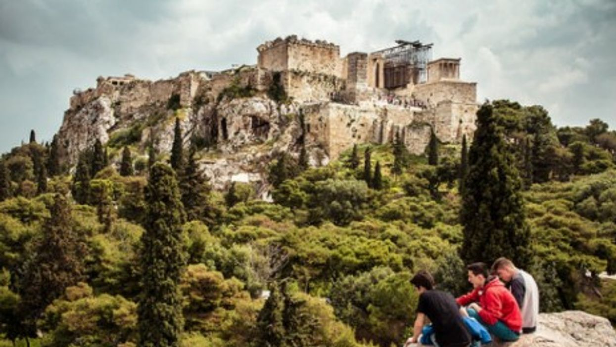 Beautiful view of the past in Athens. The future?