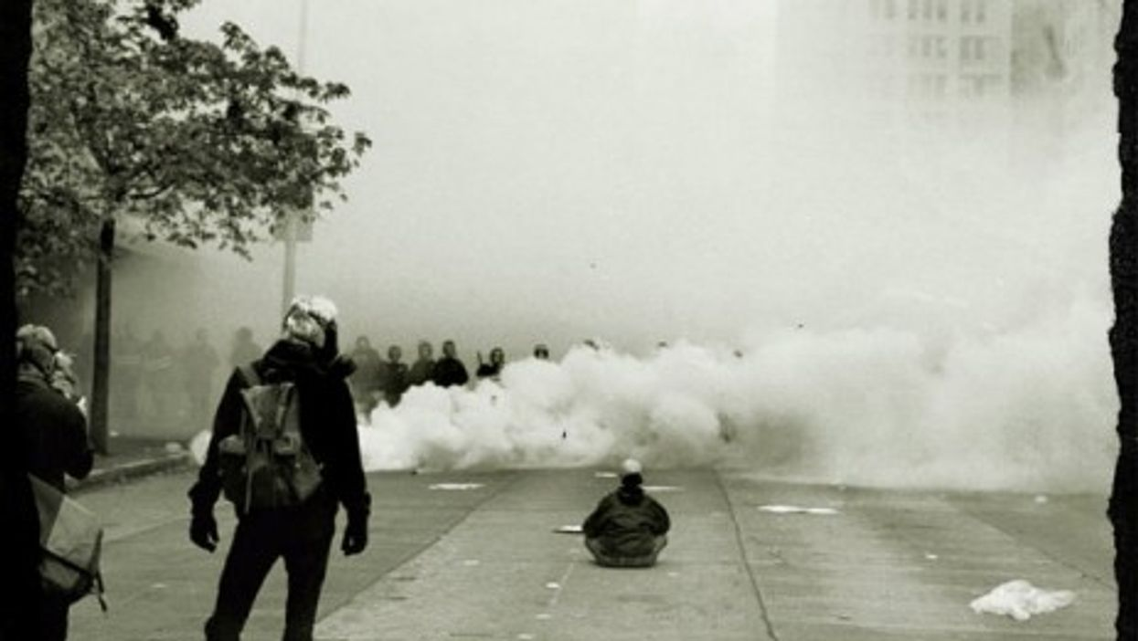 Beginning of the end? The anti-globalization protests in Seattle at the 1999 WTO summit.