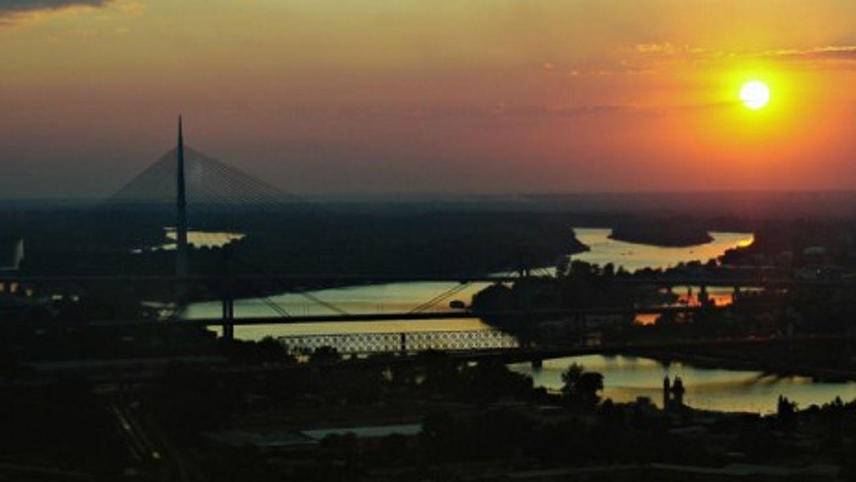 Belgrade at sundown