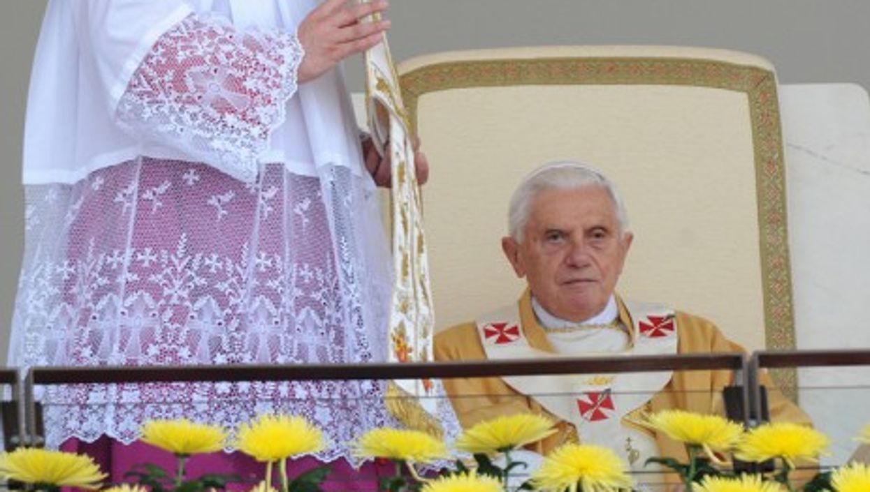 Benedict XVI celebrating mass in Fatima in 2010. His health would soon after start to decline.