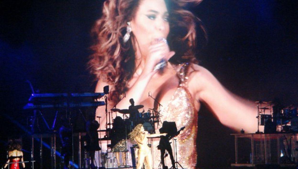 Beyonce' performing in Berlin