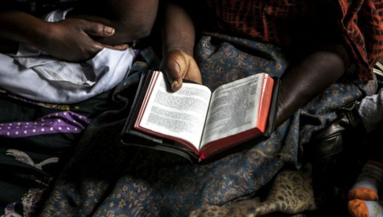 Bible reading in Goma, North Kivu, DRC