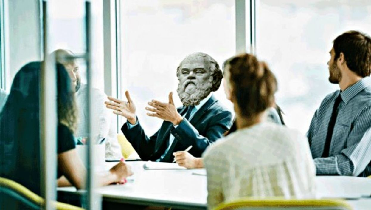 Big corporations are more and more turning to philosophy majors to fill their ranks (photo illustration)