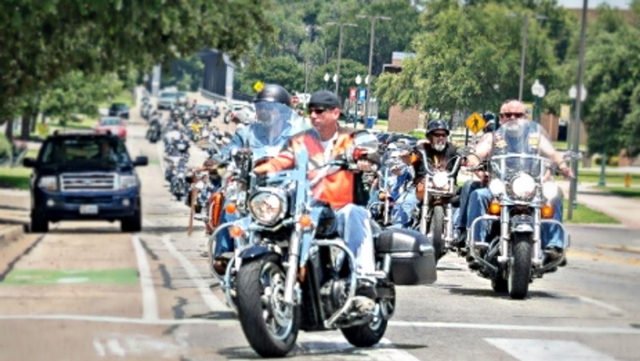 Bikers in Waco, Texas, in June